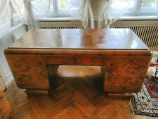 Schreibtisch Nussbaum Massivholz Sekretär Büro Antik Schreibmöbel