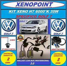KIT XENON XENO H7 SLIM CAN BUS 6000K GOLF 7 VII + ADATTATORI PROFESSIONAL 3.0.