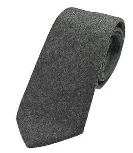 Men's Genuine Slate Grey Wool Tweed Tie - Made in the UK (U120/11)