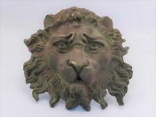 Antique BRONZE Lion Plaque~Water Garden Fountain Head~Architectural Salvage~VGC