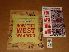 """How The West Was Won"" 1962 Film Brochure (James Stewart) + Handbill + Ticket"