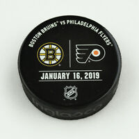 Philadelphia Flyers Issued Unused Warm Up Puck 1/16/19 Vs Boston Bruins