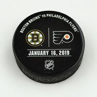 Philadelphia Flyers Issued Unused Warm Up Puck 1/16/19 Vs Boston Bruins