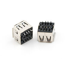 10pcs Dual USB Jack 180 Degree USB Connector Female 8PIN DIP SocketFE
