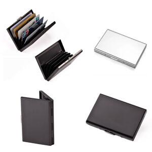 6 Slots Business ID Credit Card Wallet Holder Men Aluminum Metal pocket Case Box