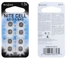 Nite Ize Nite Cell AG3 Replacement Alkaline Batteries 8 Pack NCB8-03-LR41H NEW