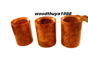wooden thuya 3 pieces cups pens on the office gifts thuya wood Morocco ofesil