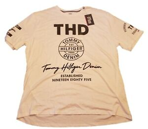 NWT Mens White Tommy Hilfiger Graphic T Shirt Size 2XL XXL $40 MSRP A058