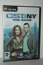 CSI: NY THE GAME GIOCO NUOVO SIGILLATO PC DVD VERSIONE ITALIANA VBC 48682