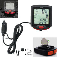 Waterproof Wired Cycling Bike Computer LCD Bicycle Speedometer Odometer quality