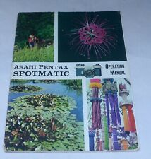Asahi Pentax Spotmatic Camera Guide Owners Manual Instruction Photography Book