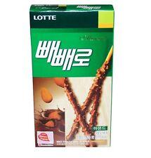 [Lotte] Pepero Almond Chocolate Sticks Snack 32g x 1ea, Korean Snack