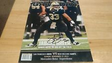 Autograph 2013 New Orleans Saints Gameday PROGRAM JABARI GREER With Inscription