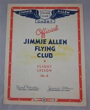 JIMMIE ALLEN FLYING CLUB FLIGHT LESSON #4 VINTAGE 1934 PAMPHLET