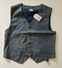 Boys Sz L 10-12 Gray Vest Crazy 8 lined dressy New With Tags Free Shipping!