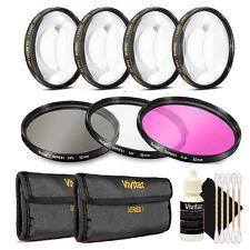 Vivitar 72mm Filter Kit + Macro Kit + 3pc Cleaning Kit for 72mm Lenses