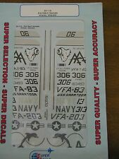 1/32 SuperScale F/A-18A/C Hornets VFA-83, VFA-203 USS Saratoga Decals OOP USN