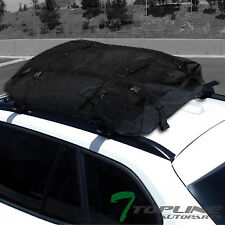 "50"" BLACK WINDOW FRAME ROOF RACK CROSS BARS KIT+WATERPROOF CARGO CARRIER BAG T04"