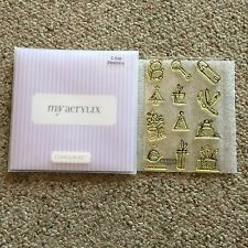 Close To My Heart Acrylix C1044 Sketchin's Acrylic Stamp Set CTMH Baby Xmas Bday