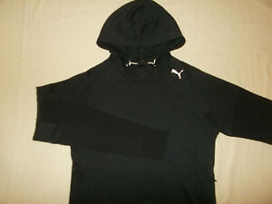 PUMA KEEPS YOU DRY BLACK HOODED SWEATSHIRT WOMENS SMALL EXCELLENT CONDITION
