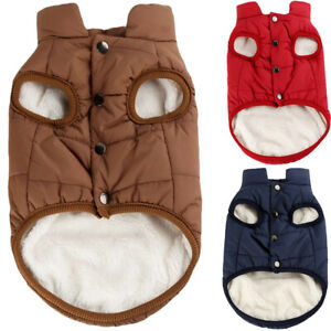 XS-XL Winter Pet Dog Clothes Warm Buttons Sweater Puppy Fleece Jacket Vest Coat
