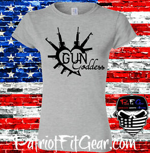 Womens t-shirt,Gun Goddess,Molon Labe,Girls With Guns,Dont Tread On Me,2A,DTOM