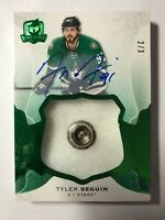 2016-17 THE CUP 2 of 3 Green Foil Button Tyler Seguin Auto Dallas Stars