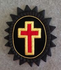 Templar Past Commander (No Rays) Chapeau Cross with Rosette in Mylar (PCR-M-NR)