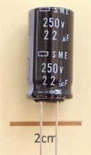 Nippon Chemi-détenu PME Radial Condensateur électrolytique 22µF 250 V 85 ° C (Lot de 2)