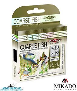 MIKADO SENSEI ''COARSE FISH'' FISHING LINE, 150 METERS, ALL DIAMETERS,CARP,BREAM