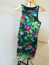 Portmans Size 8 Floral sleeveless pencil dress with peplum detail