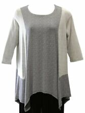 Alembika Khaki A-line Tunic Top  NWT  made in Israel  size 5