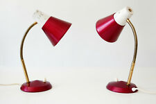 SET of TWO Mid Century Modern SIDE TABLE LAMPS Desk Lights, 1970s, GERMANY