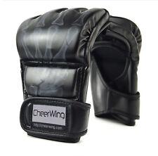 Half Finger PU Leather Boxing Gloves Sandbag Punch Mitts MMA UFC Training