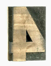 Number 4 Four Vtg Wood Letterpress Print Type Printers Block Cut 25 2 12