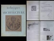 TECHNIQUES ET ARCHITECTURE 1947 AERONAUTIQUE, LE CORBUSIER, AEROPORT, HANGAR