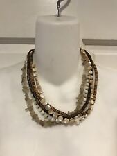Silpada Designs Necklace Jewelry 6 Strands Mixed Beads Wood Quartz Retired N1507
