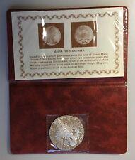1780 Austria Maria Theresia silver thaler restrike in folder *[14536]