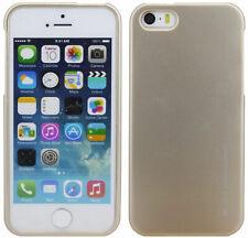 Silikon Gummihülle Schutz Hülle Zubehör Cover Schale Gold für Iphone 5 / 5S / SE