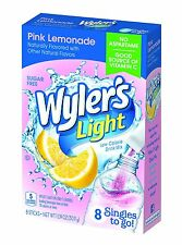 12 BOXES OF Wylers Light Singles To Go Pink Lemonade Drink Mix - 8 CT