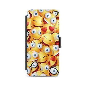 SMILEYS FACES PATTERN Clip Art  Flip Wallet Phone Case