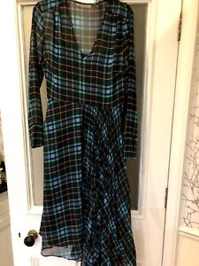 NEW MARKS AND SPENCER Holly Willoughby Tartan Checked Skater Dress RP £59 6 8 10