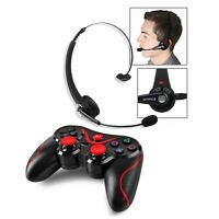 For PS3 Playstation 3 Wireless Bluetooth Gaming Headset + Wireless Controller