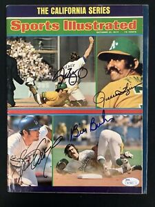 Rollie Fingers Signed Sports Illustrated 10/21/74 No Label Yeager +2 Auto JSA
