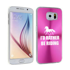For Samsung Galaxy S7 S4 S5 S6 Edge + Hard Case Cover I'd Rather Be Riding Horse