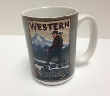 Tree-Free Greetings Western Bow Hunter 15 oz Ceramic Mug w Full-Size Handle