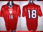 England Player Issue FOWLER Adult XL Shirt Jersey Player Soccer Trikot Umbro 99
