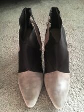 Ladies Suede & Black Ankle Boots Size 3 M&S