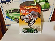 HOT WHEELS REAL RIDERS FRIGHT CARS  FORD LIGHTNING  GREEN
