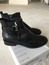 Geox Respira Black Brogue Ankle Boot UK 5 - EU38
